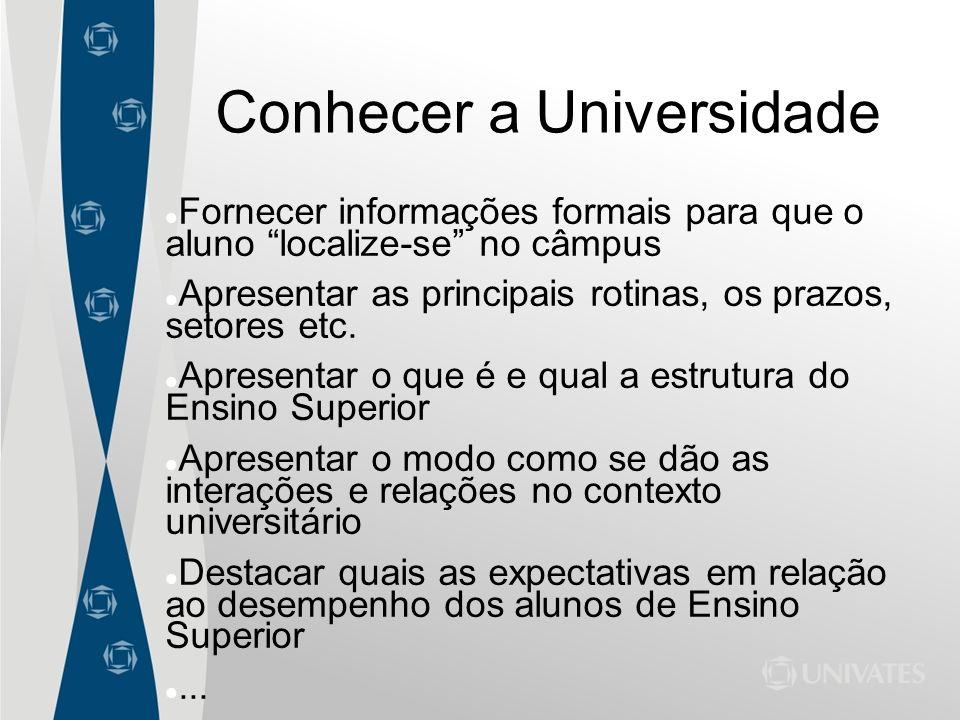 Conhecer a Universidade