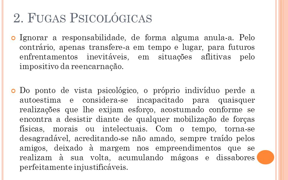 2. Fugas Psicológicas