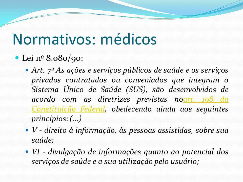 Normativos: médicos Lei nº 8.080/90: