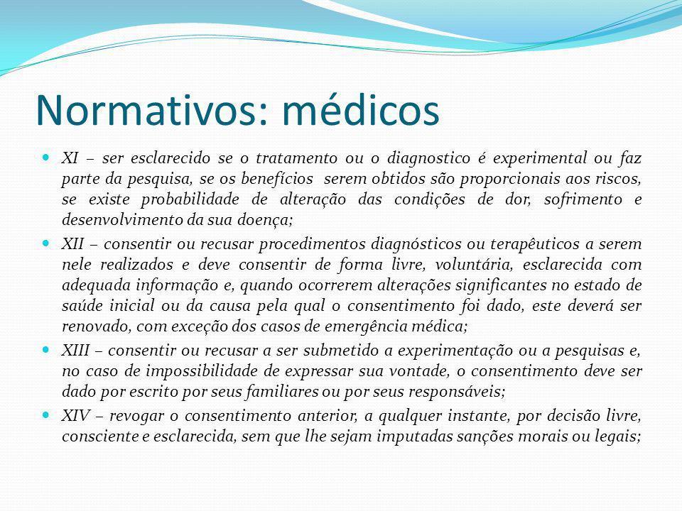 Normativos: médicos