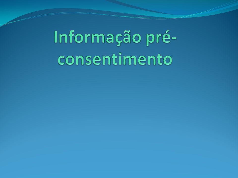Informação pré-consentimento