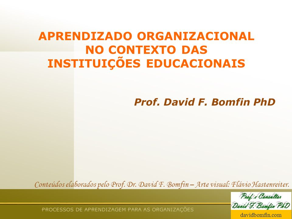 APRENDIZADO ORGANIZACIONAL INSTITUIÇÕES EDUCACIONAIS