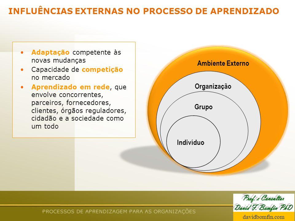 INFLUÊNCIAS EXTERNAS NO PROCESSO DE APRENDIZADO