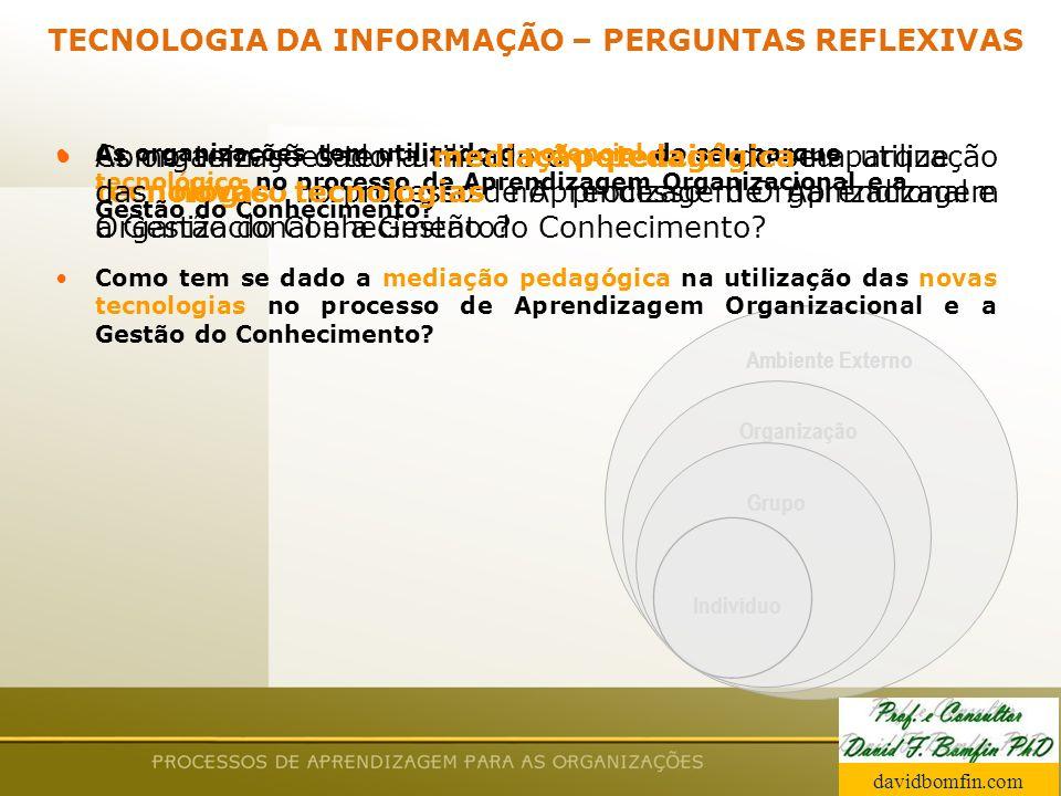 TECNOLOGIA DA INFORMAÇÃO – PERGUNTAS REFLEXIVAS