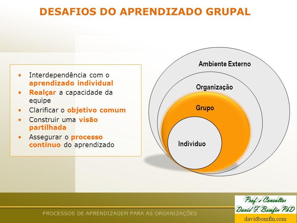 DESAFIOS DO APRENDIZADO GRUPAL