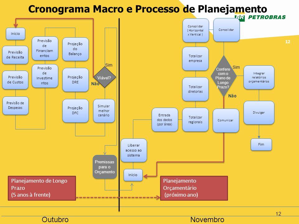 Cronograma Macro e Processo de Planejamento