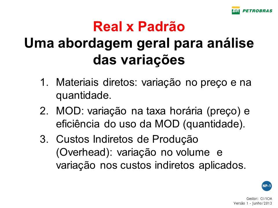 Real x Padrão Uma abordagem geral para análise das variações
