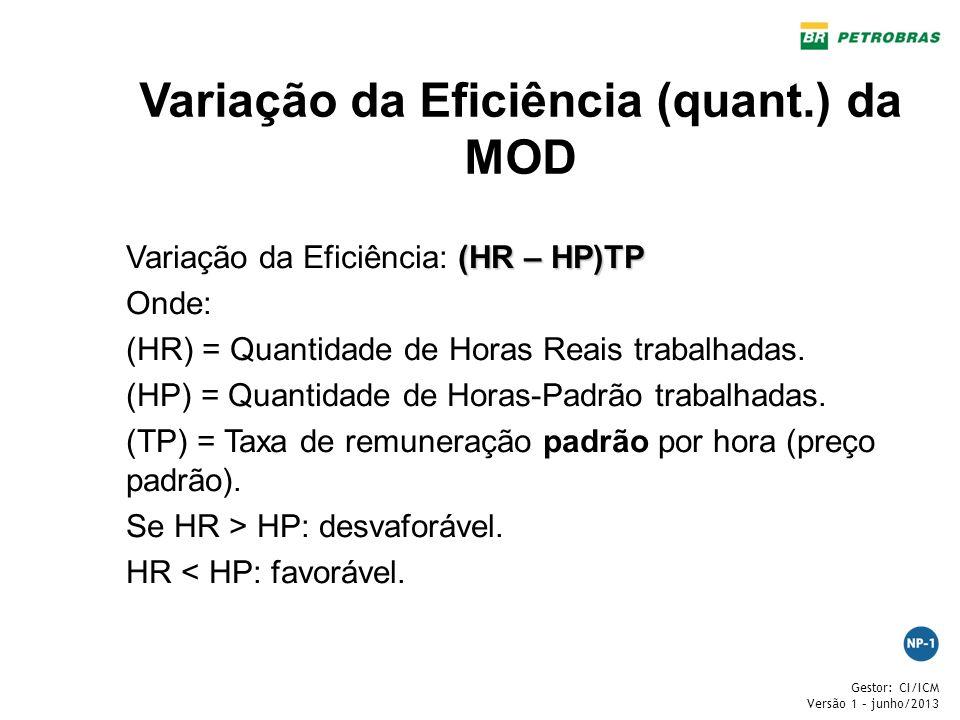 Variação da Eficiência (quant.) da MOD