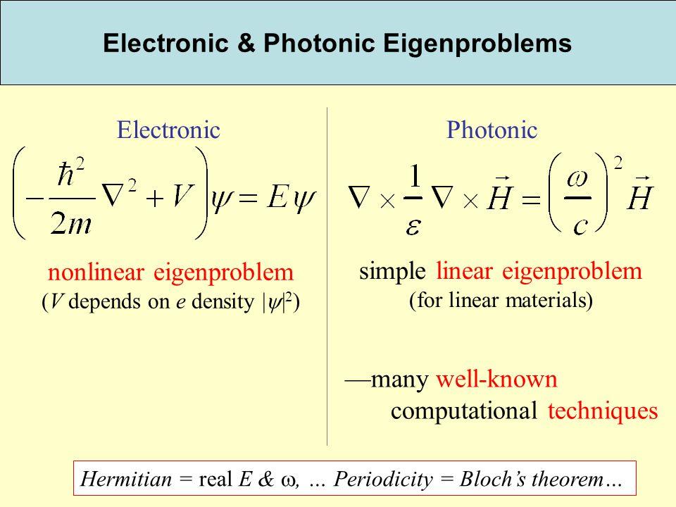 Electronic & Photonic Eigenproblems