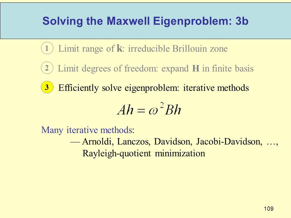 Solving the Maxwell Eigenproblem: 3b