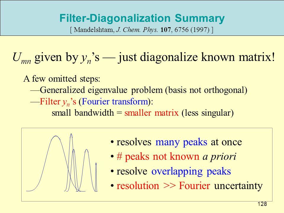 Filter-Diagonalization Summary