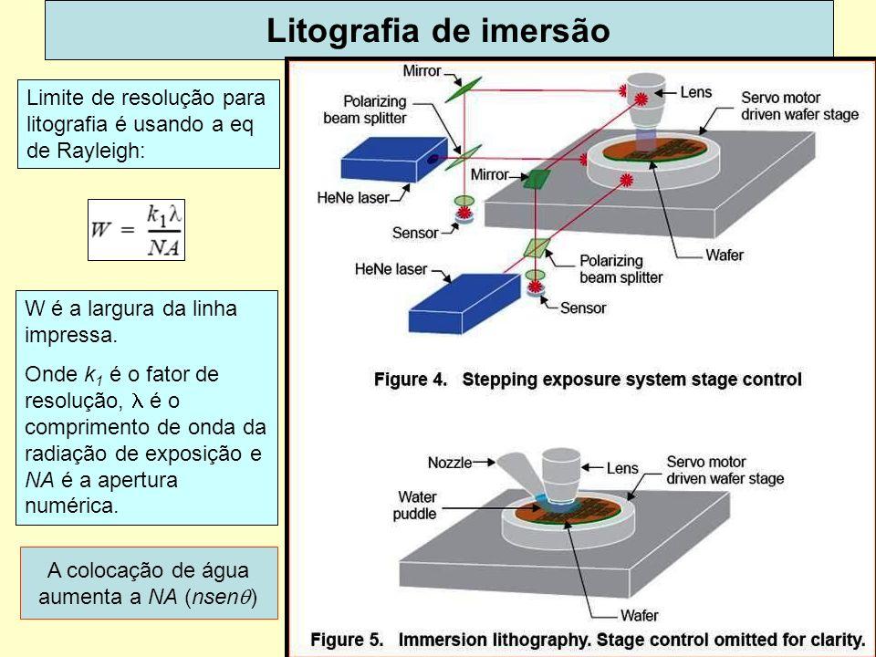A colocação de água aumenta a NA (nsenq)
