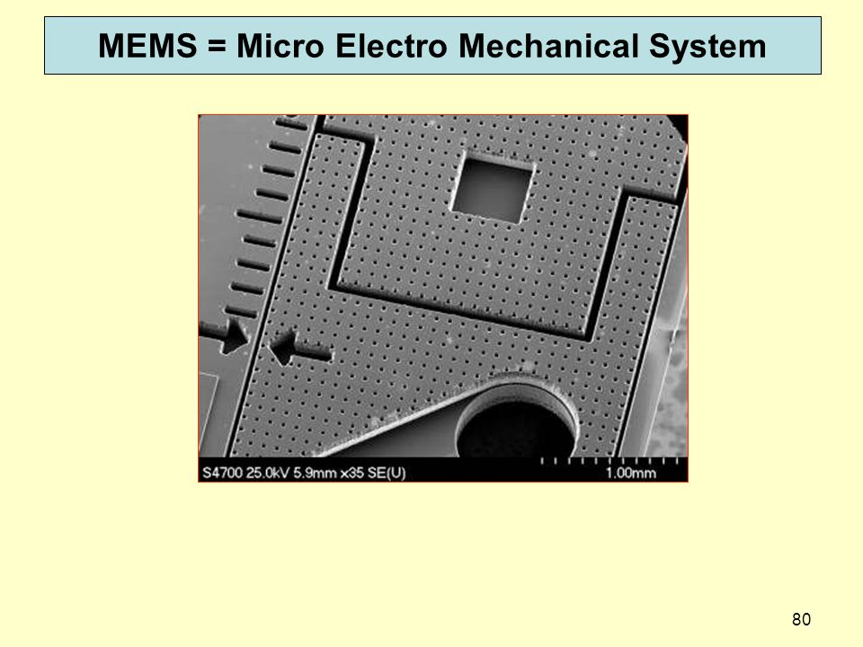 MEMS = Micro Electro Mechanical System
