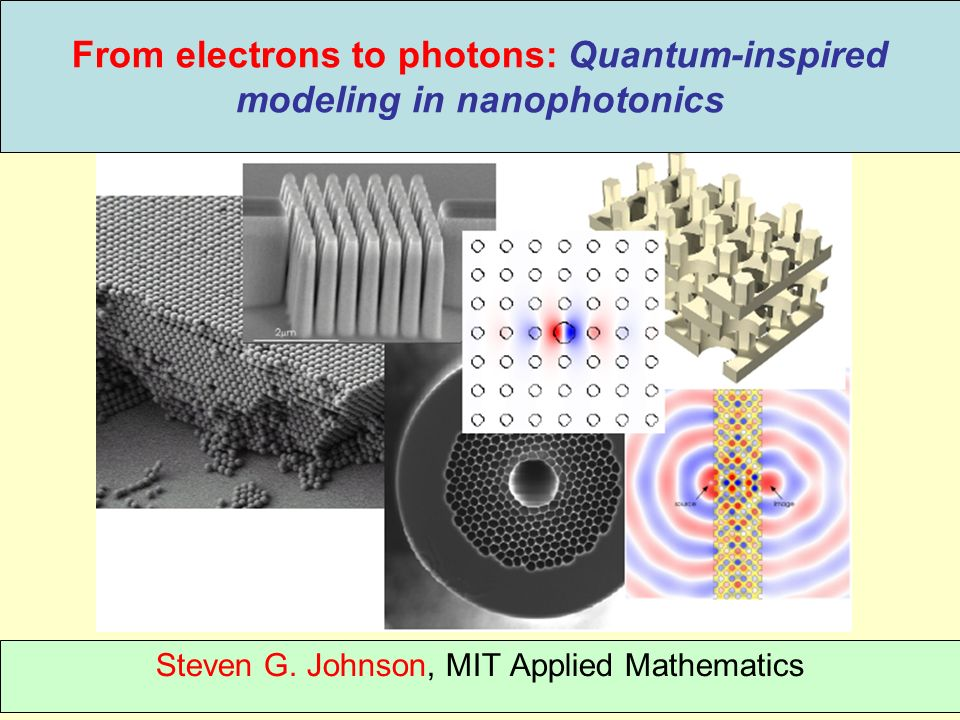 From electrons to photons: Quantum-inspired modeling in nanophotonics