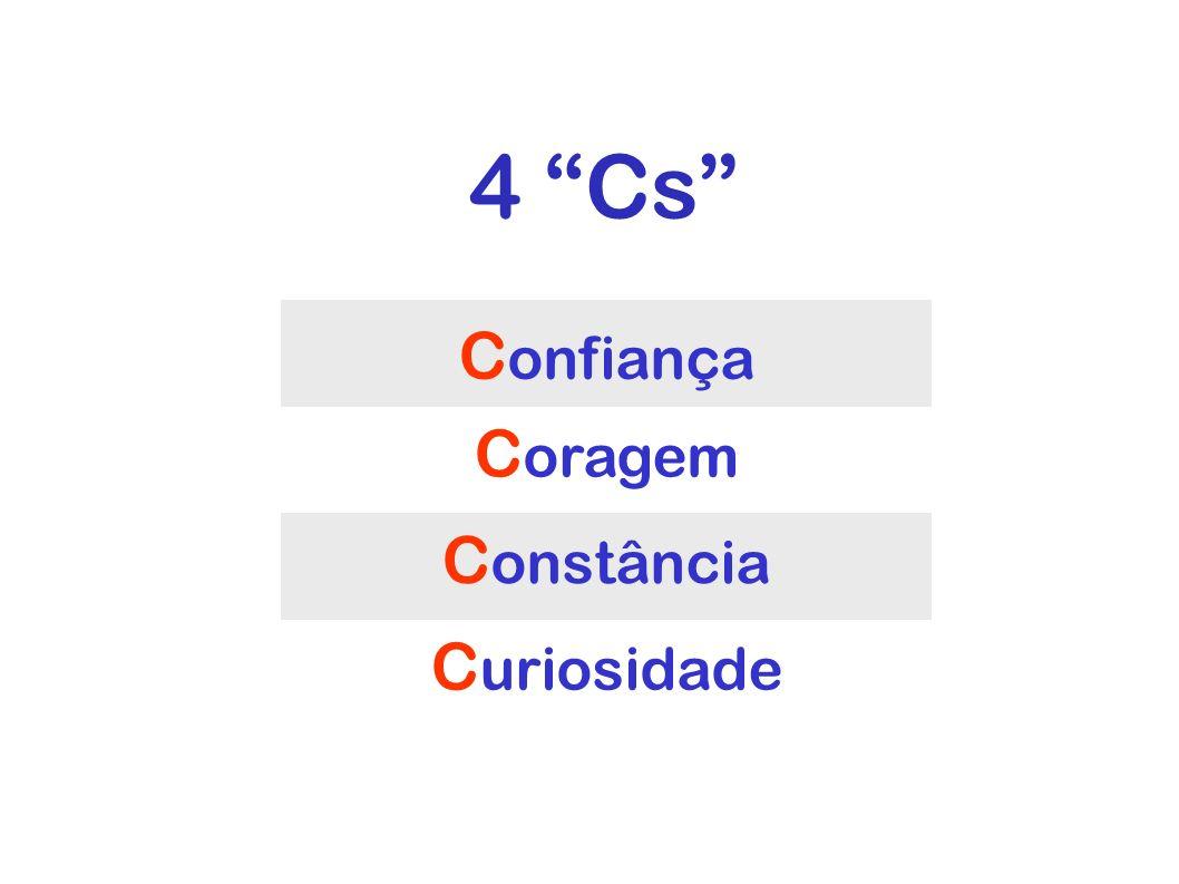 4 Cs 4 Cs Confiança Coragem Constância Curiosidade