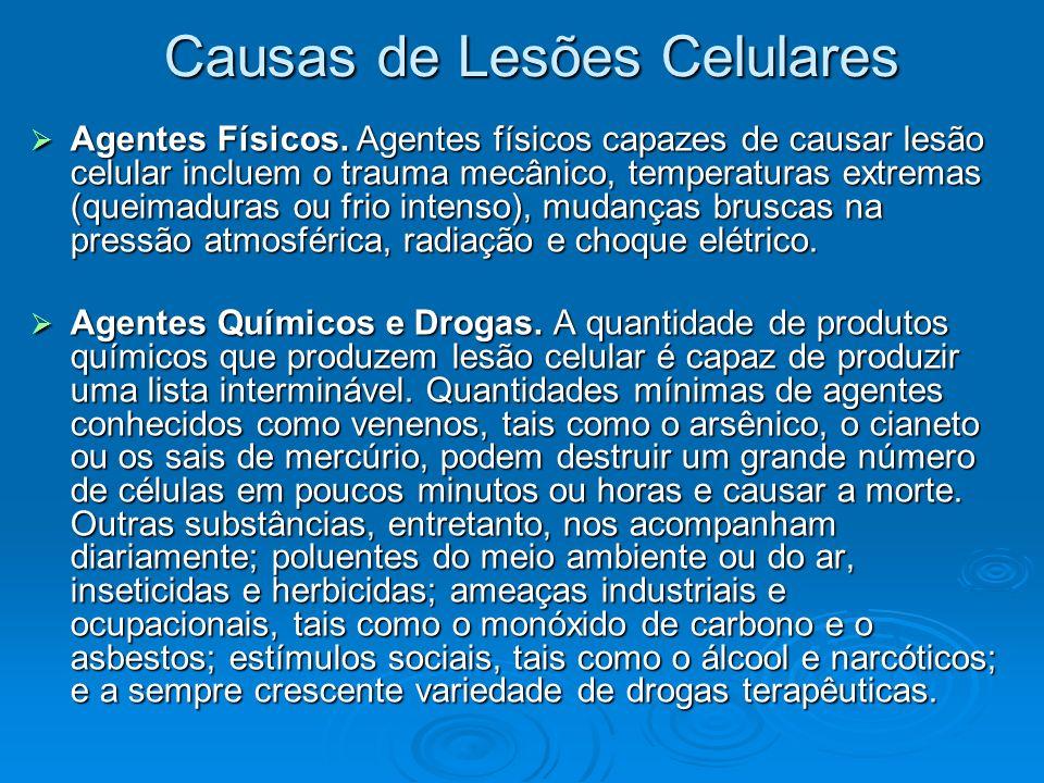 Causas de Lesões Celulares