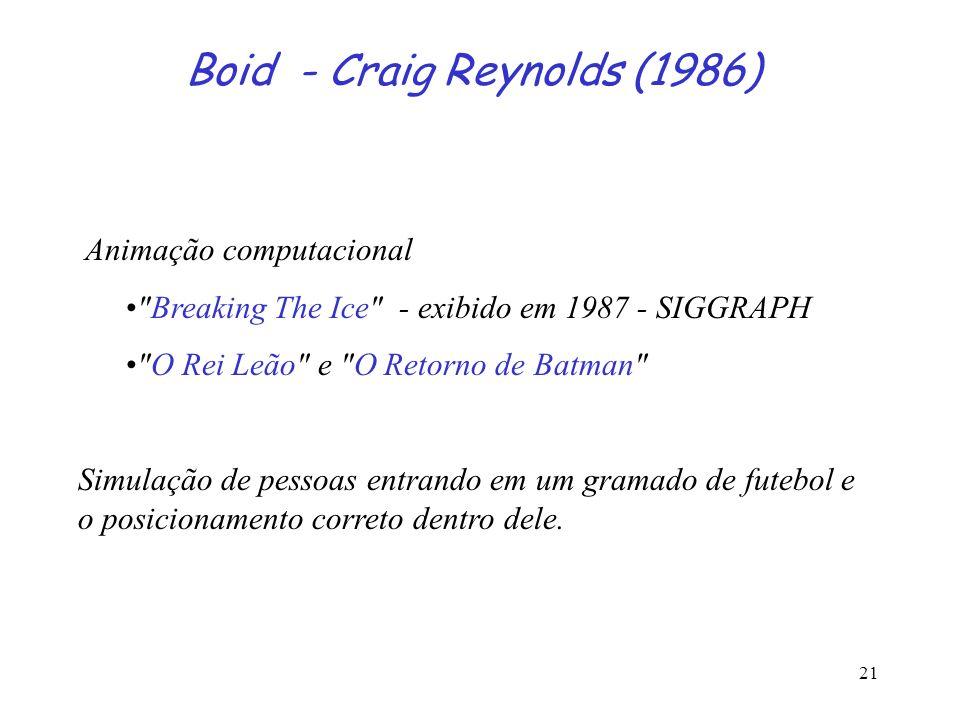 Boid - Craig Reynolds (1986)