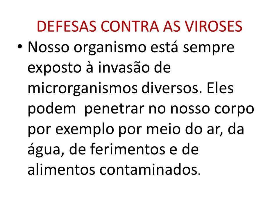 DEFESAS CONTRA AS VIROSES