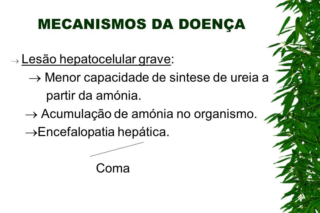 MECANISMOS DA DOENÇA Lesão hepatocelular grave: