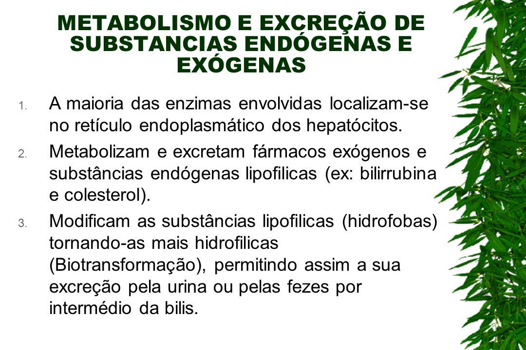 METABOLISMO E EXCREÇÃO DE SUBSTANCIAS ENDÓGENAS E EXÓGENAS