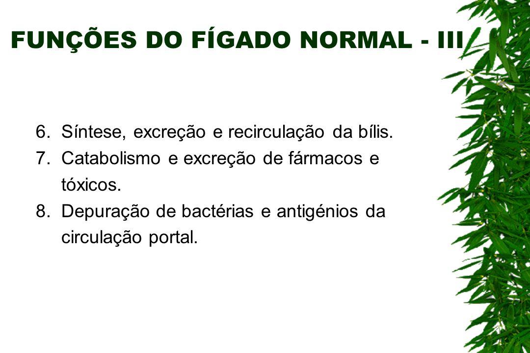 FUNÇÕES DO FÍGADO NORMAL - III