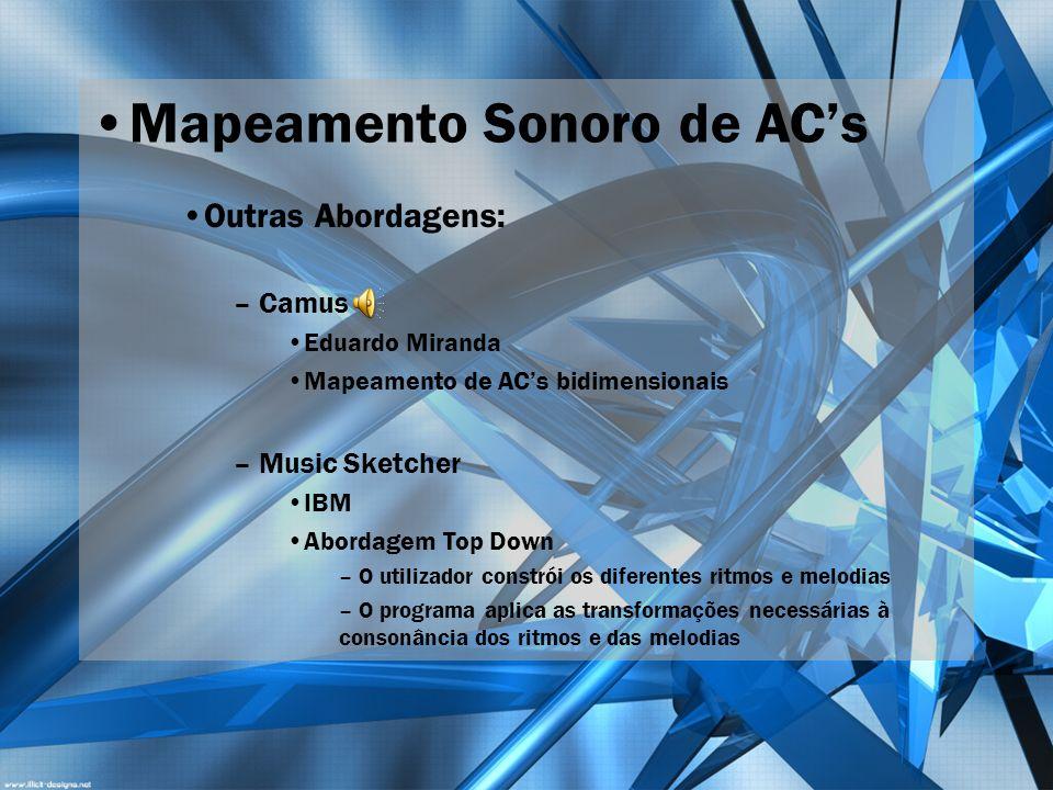 Mapeamento Sonoro de AC's