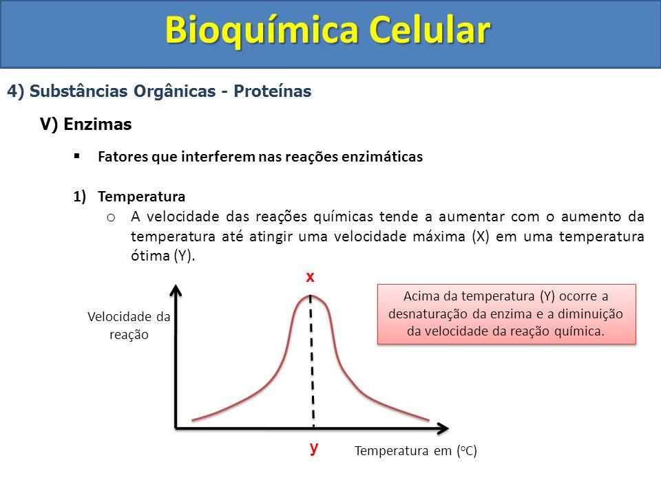Bioquímica Celular 4) Substâncias Orgânicas - Proteínas V) Enzimas