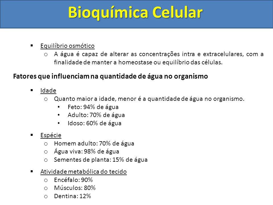Bioquímica Celular Equilíbrio osmótico