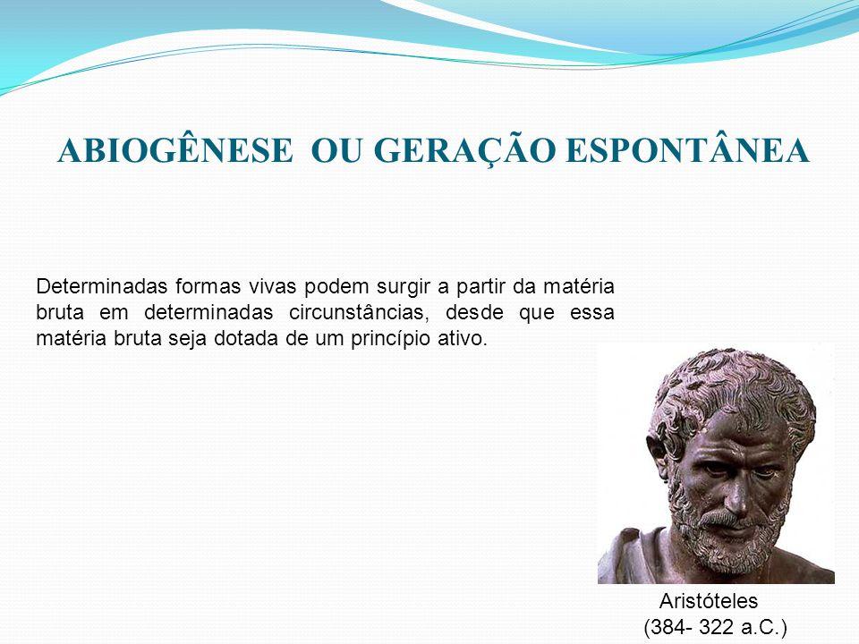 ABIOGÊNESE OU GERAÇÃO ESPONTÂNEA
