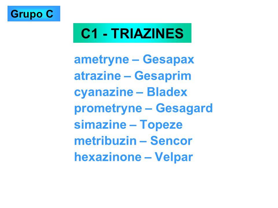 C1 - TRIAZINES ametryne – Gesapax atrazine – Gesaprim