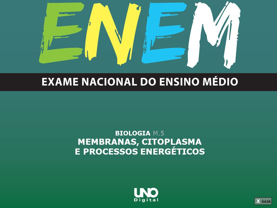 MEMBRANAS, CITOPLASMA E PROCESSOS ENERGÉTICOS