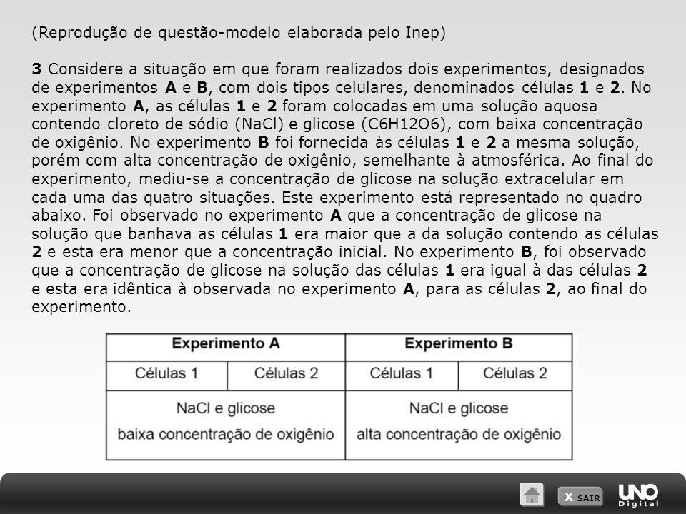 (Reprodução de questão-modelo elaborada pelo Inep)