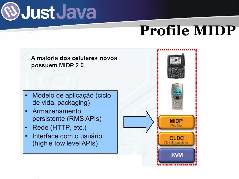 Profile MIDP A maioria dos celulares novos possuem MIDP 2.0.
