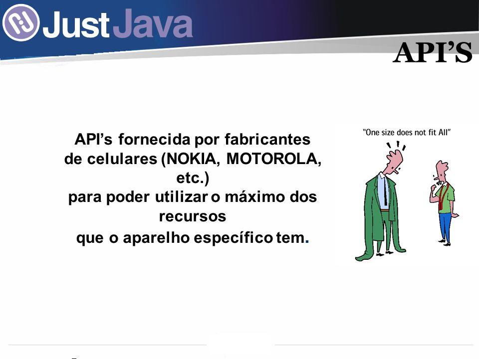 API'S API's fornecida por fabricantes