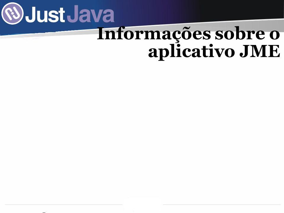 Informações sobre o aplicativo JME