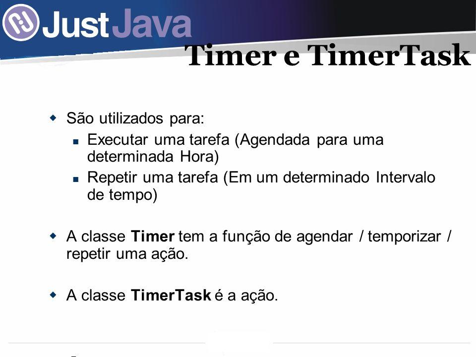 Timer e TimerTask São utilizados para: