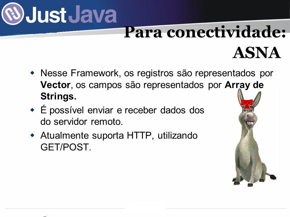 Para conectividade: ASNA