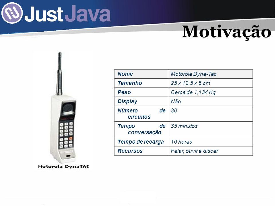 Motivação Nome Motorola Dyna-Tac Tamanho 25 x 12,5 x 5 cm Peso