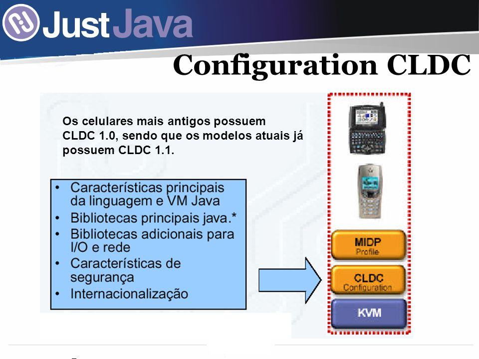 Configuration CLDC Os celulares mais antigos possuem