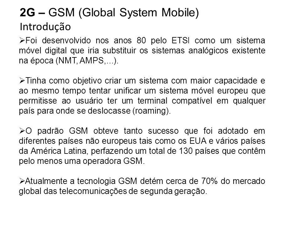 2G – GSM (Global System Mobile) Introdução
