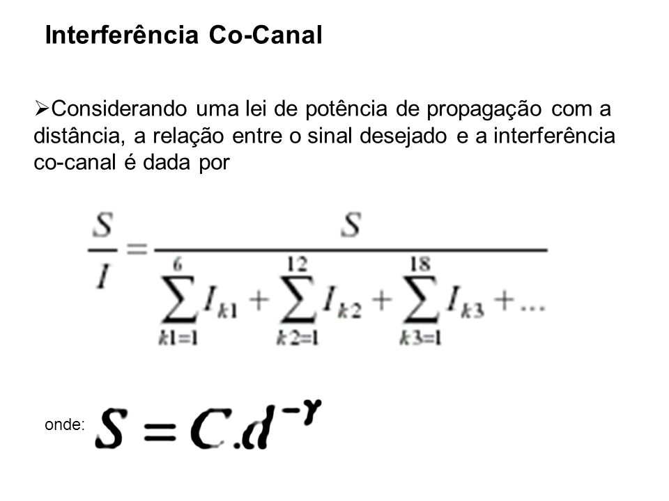 Interferência Co-Canal