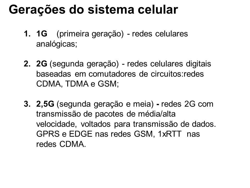 Gerações do sistema celular
