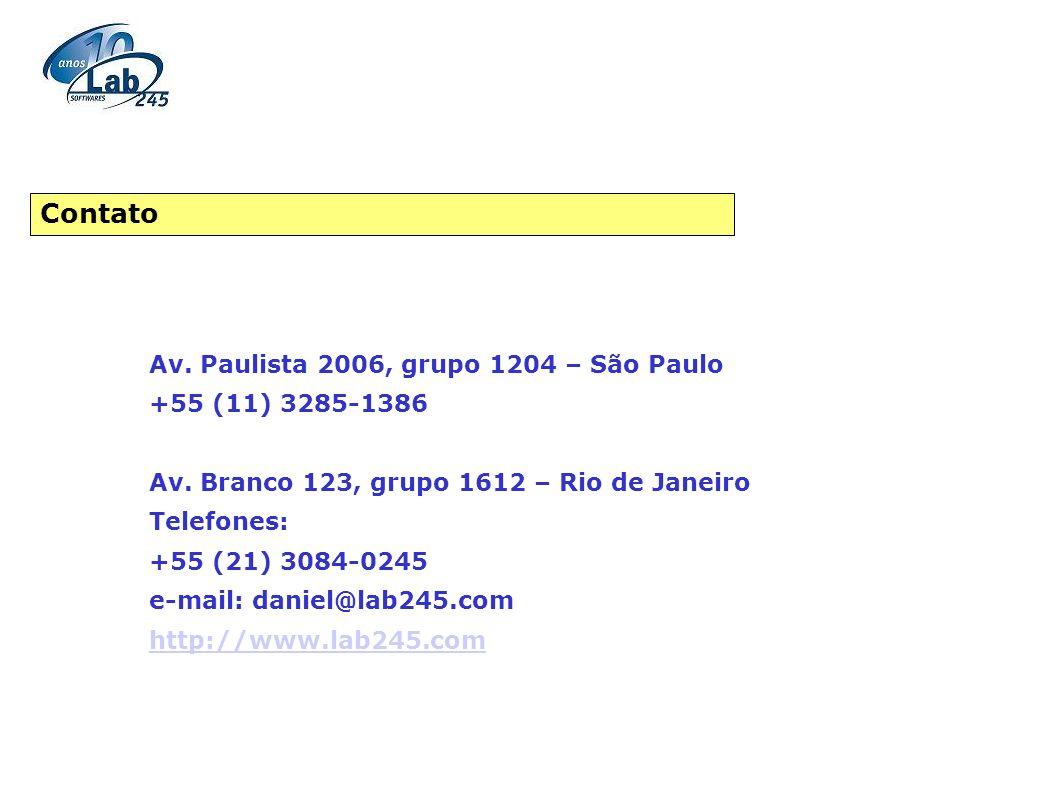 Contato Av. Paulista 2006, grupo 1204 – São Paulo +55 (11) 3285-1386
