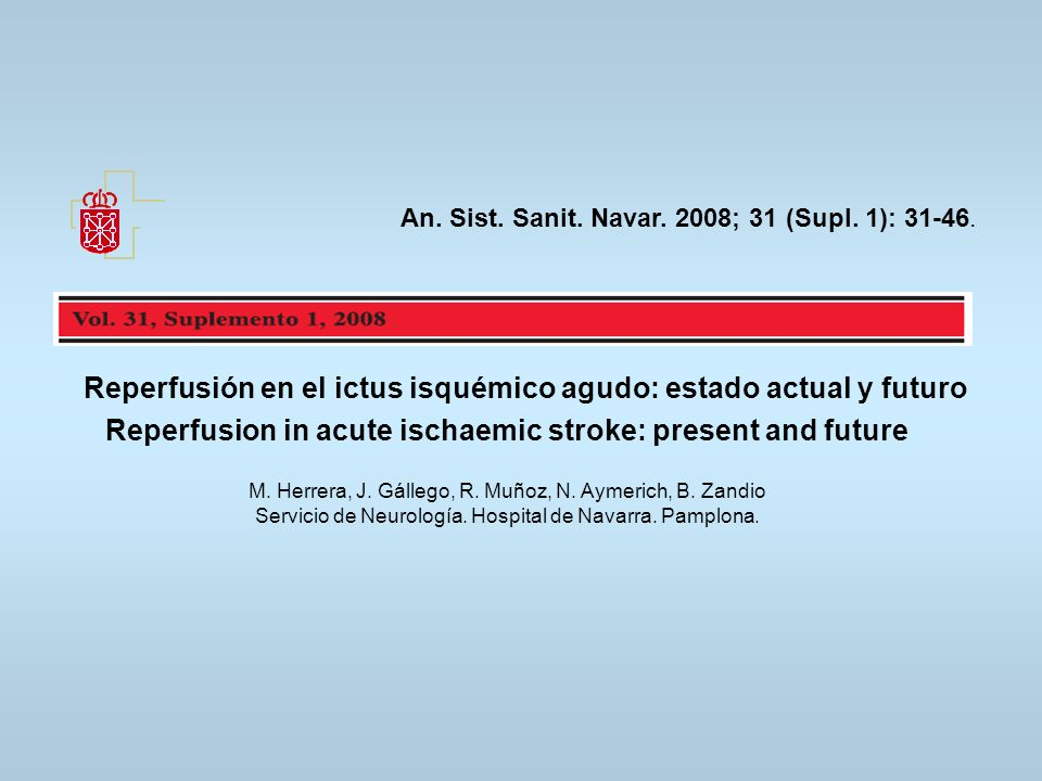 An. Sist. Sanit. Navar. 2008; 31 (Supl. 1): 31-46.