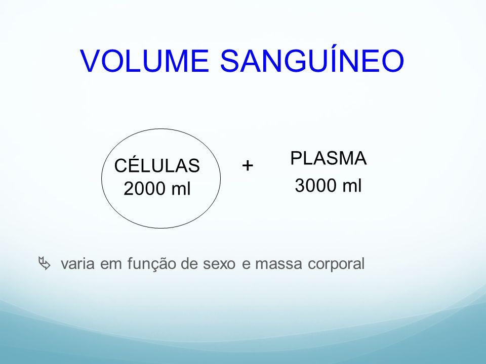 VOLUME SANGUÍNEO + PLASMA CÉLULAS 3000 ml 2000 ml