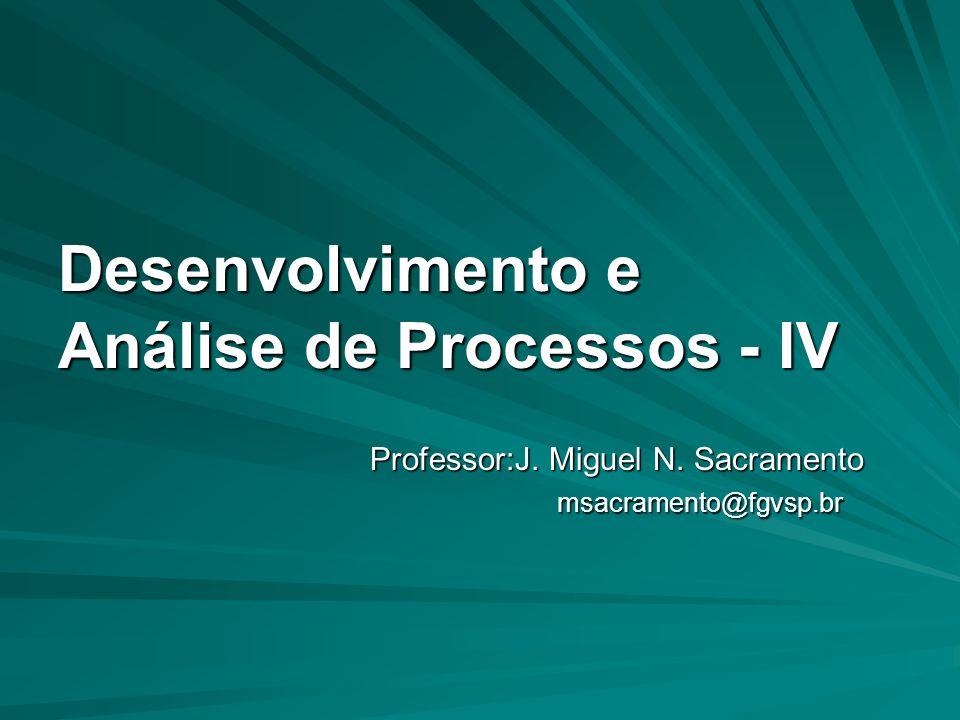 Desenvolvimento e Análise de Processos - IV