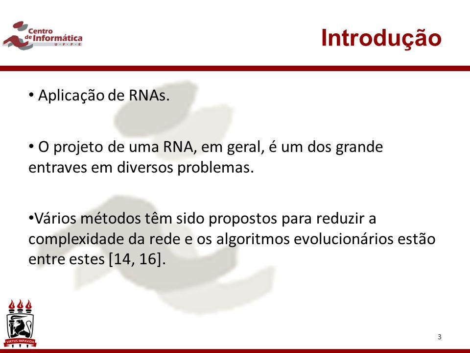 Introdução Aplicação de RNAs.