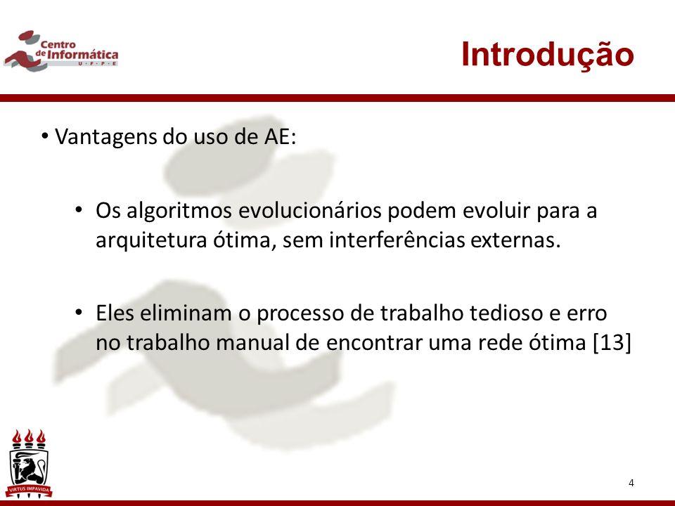 Introdução Vantagens do uso de AE:
