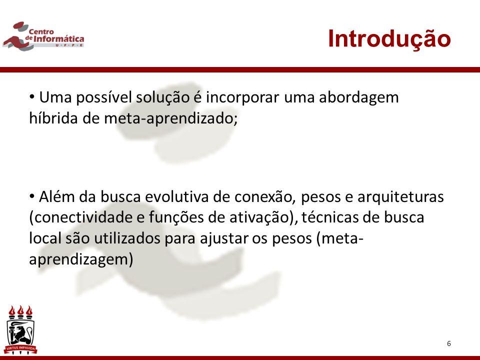 Introdução Uma possível solução é incorporar uma abordagem híbrida de meta-aprendizado;