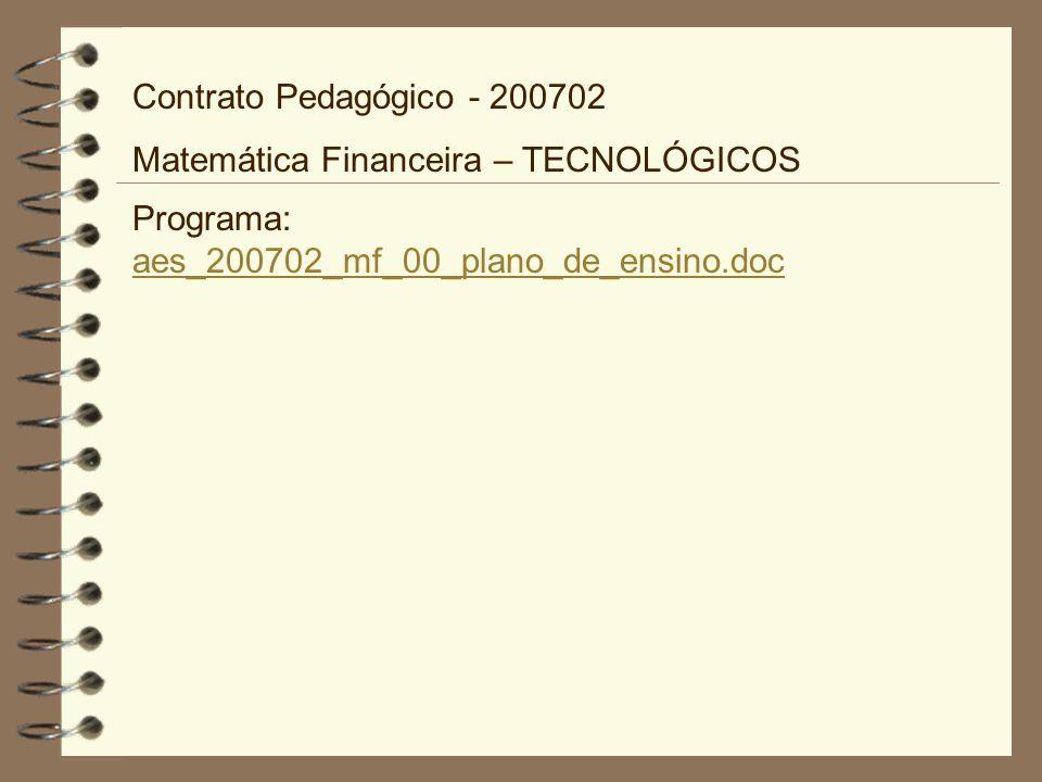 Contrato Pedagógico - 200702 Matemática Financeira – TECNOLÓGICOS.